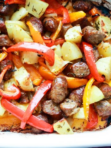 Italian-style Sausage and Pepper-in the pan-closeup-feature