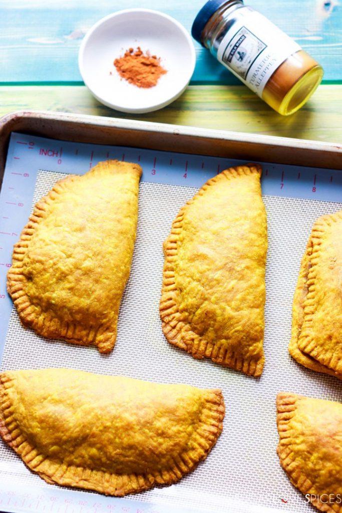 Jamaican Beef Patties-patties baked in pan