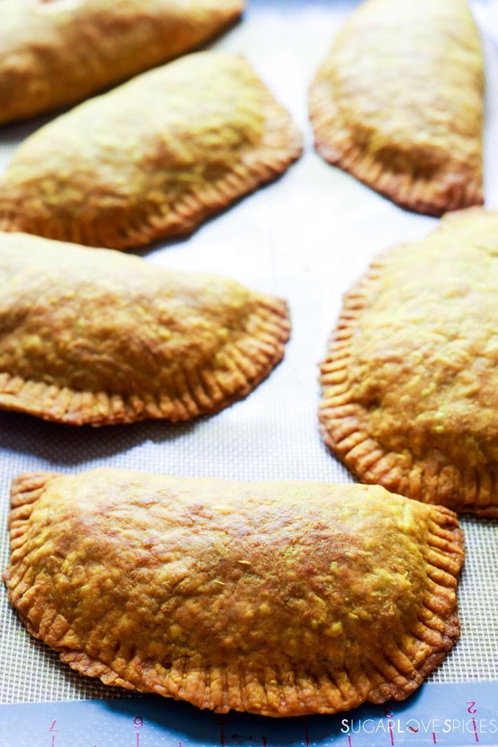 Jamaican Beef Patties-patties close up