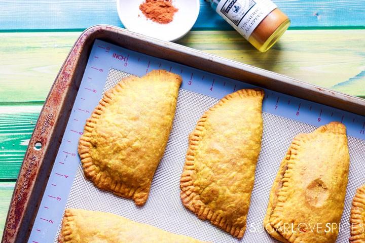 Jamaican Beef Patties-patties in pan
