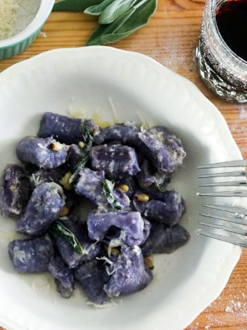 homemade purple potato gnocchi-feature