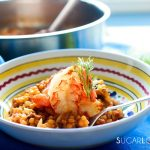 Fregola Sarda with Scampi and Fennel-feature-plate closeup