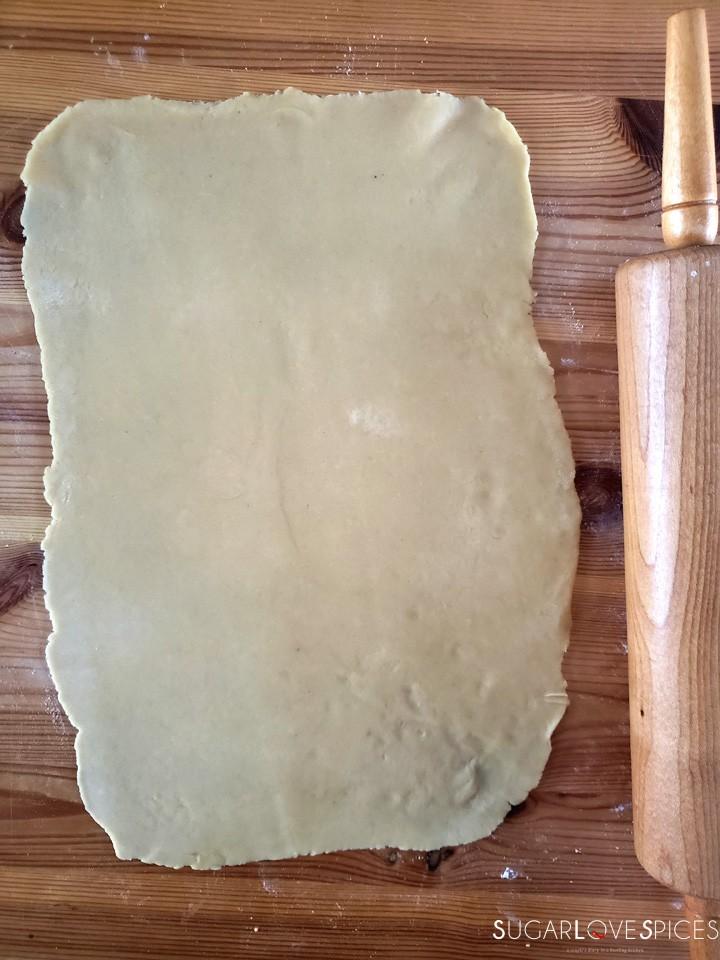 Hungarian Gerbeaud cake-prep-first layer of dough