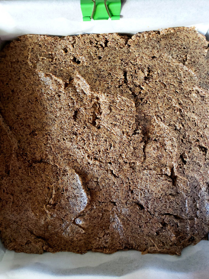 Buckwheat and Jam Cake-ready for the oven
