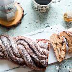 Nutella Pain Brioche Braid-feature-sliced on marbled board