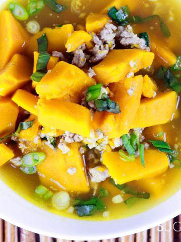 Vietnamese Kabocha Squash Soup-feature-bowl-closeup