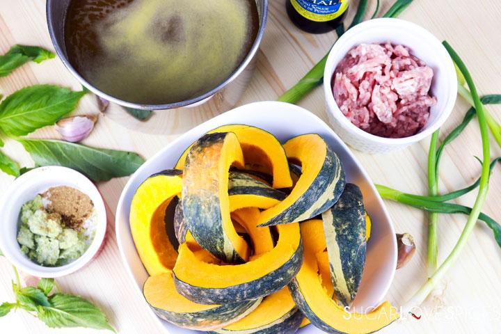 Vietnamese Kabocha Squash Soup-mise en place