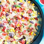 Amazing-Loaded-Fiesta-Veggie-Nachos-feature-view from the top