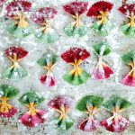 How to Make Tricolor Farfalle Pasta-farfalle on floured tray