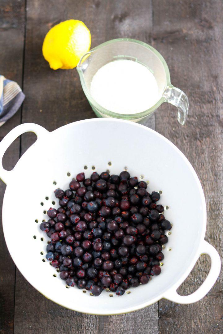 Small batch no-pectin Saskatoon jam-three ingredients