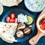 Bean Falafel with Cucumber and Tahini Sauce-feature-plated-sauces on the side